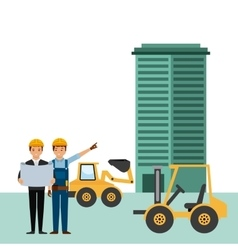 Construction workers cartoon vector