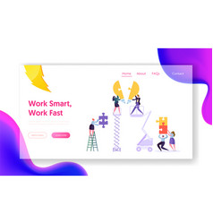 creative teamwork idea business innovation concept vector image