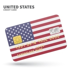 Credit card with United States flag background for vector