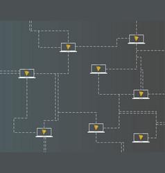Cryptocurrency tron blockchain virtual digital vector