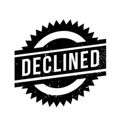 Declined rubber stamp vector