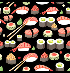 delicious japanese sushi vector image
