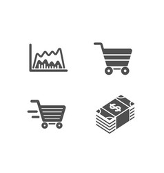 Delivery shopping trade chart and market sale vector