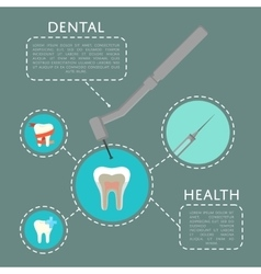 Dental health banner with dentist drill vector
