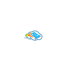 digital cloud email logo icon vector image