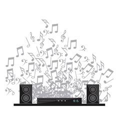 digital sound vector image