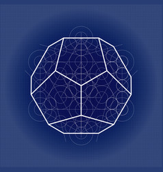Dodecahedron from metatrons cube sacred geometry vector