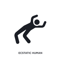 Ecstatic human isolated icon simple element from vector