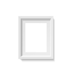 empty a4 size picture frame mockup photo vector image