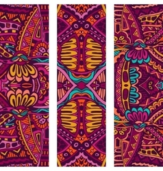 Festive Tribal colorful ornamental banner vector image