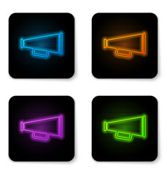 glowing neon megaphone icon isolated on white vector image