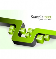 green 3D elements vector image