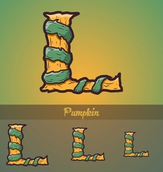 Halloween decorative alphabet - L letter vector image