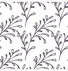Hand drawn floral seamless pattern Web doodle vector image