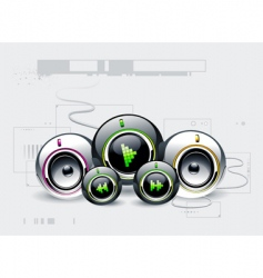 high tech sound system vector image