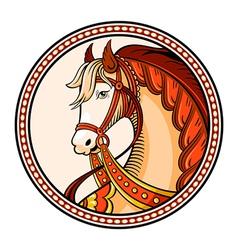 Horse emblem vector image