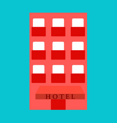 hotel icon isolated on white background simple vector image