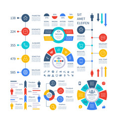 infographic multipurpose financial chart vector image