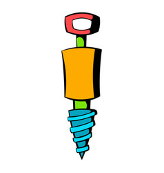 Jackhammer icon icon cartoon vector