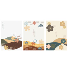 japanese template abstract background in asian vector image