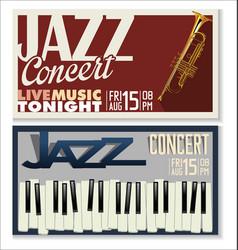 jazz concert banner 4 vector image