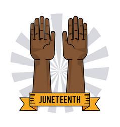 Juneteenth day slavery humanitarian symbol vector