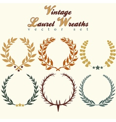 Laurels wreaths Set vector image