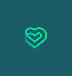 linear heart loop icon logo design vector image