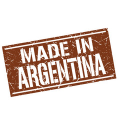 made in argentina stamp vector image