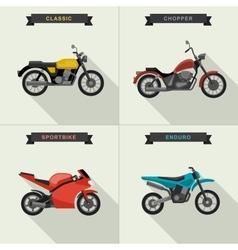 Motorcycles set vector