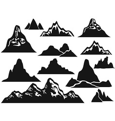 mountain silhouettes vector image
