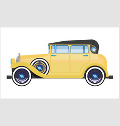 old car or vintage retro collector auto wehicle vector image