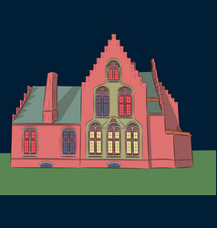 Old medieval house vector