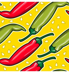 Pepper seamless pattern color background vector