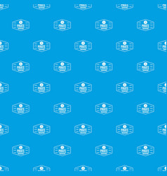 pirate treasures pattern seamless blue vector image