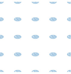 pizza icon pattern seamless white background vector image