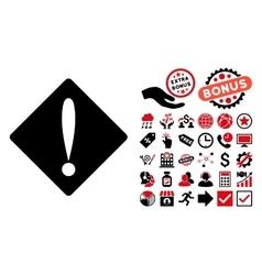 Problem Flat Icon with Bonus vector image
