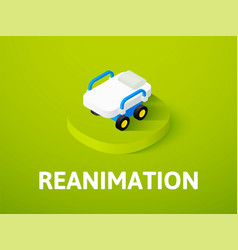 reanimation isometric icon isolated on color vector image