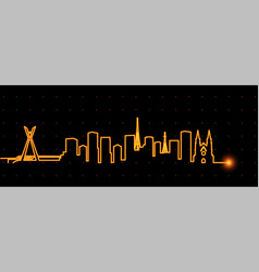sao paulo light streak skyline vector image