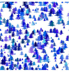 Seamless abstract stylized random pine tree vector