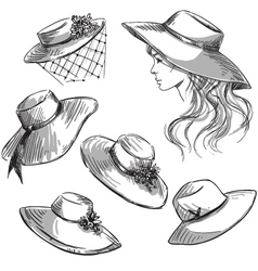 Set of hats vector