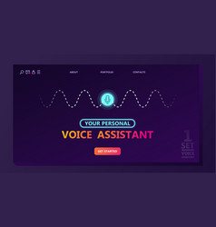 smart voice assistant concept vector image