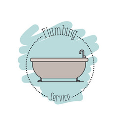 sticker scene of bath dripping flooded plumbing vector image