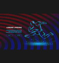 strong runner linear silhouette a running vector image