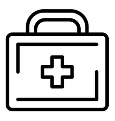 Suitcase with medicines icon outline style vector