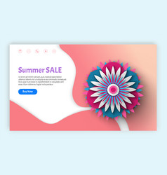 summer sale flower decoration and information web vector image