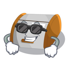 super cool character modern plastic bread bin box vector image