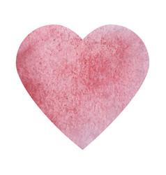 Textured watercolor heart icon vector