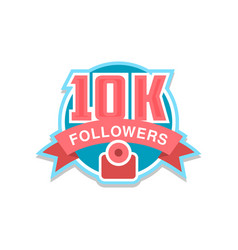 thank you 10k followers numbers template for vector image