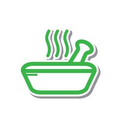 Thin line spa bowl icon vector